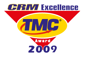 "Gewinner der Auszeichnung ""CRM Excellence Awards"" 2009<br />Technology Marketing Corporation – TMC, USA: CRM Excellence Awards"