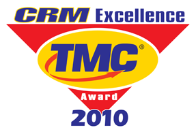 "Gewinner der Auszeichnung ""CRM Excellence Awards"" 2010<br />Technology Marketing Corporation – TMC, USA: CRM Excellence Awards"