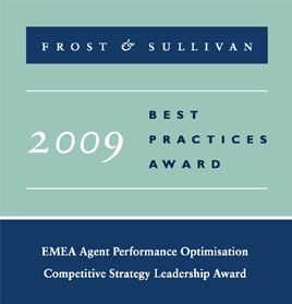 EMEA Agent Performance Optimisation 2009<br />Frost & Sullivan: Competitive Strategy Leadership Award