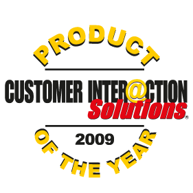 Gewinner Produkt des Jahres 2009<br />Customer Inter@ction Solutions Magazin, USA: Product of the Year 2009