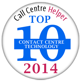 Place 5 - Call Centre Helper's Reader's Choice Awards 2014<br />Top 10 Contact Centre Technology
